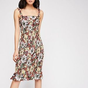 Faithful the label floral midi dress